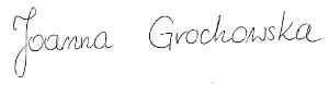 Joanna Grochowska podpis